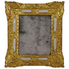 18th Century French Louis XV Baroque Giltwood Mirror