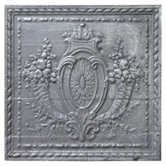 18th Century French Louis XV 'Fruits of the Summer' Fireback