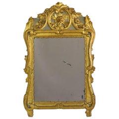 18th Century French Louis XV Giltwood Mirror