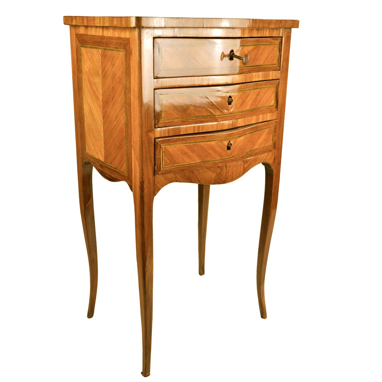 18th Century French Louis XV Occasional Chest/Table with Three Drawers