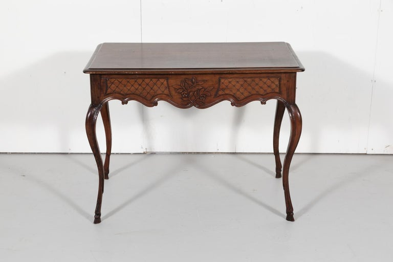 18th Century French Louis XV Period Side Table or Ladies Desk For Sale 11