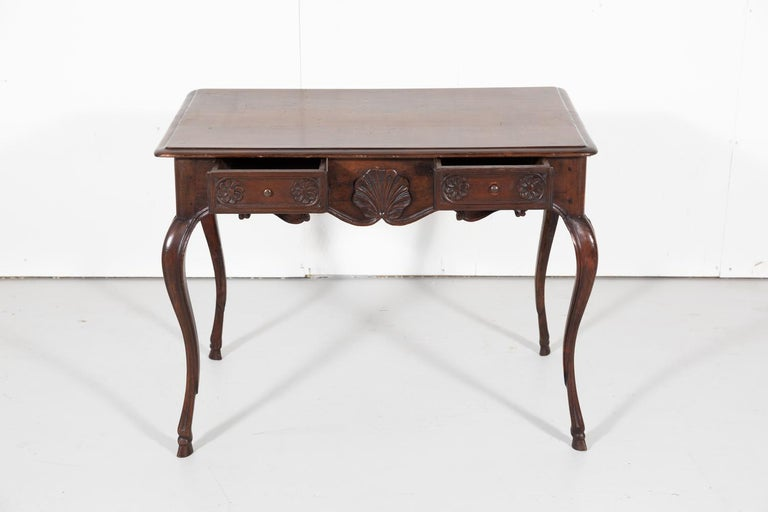 18th Century French Louis XV Period Side Table or Ladies Desk For Sale 2