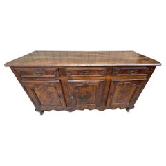 18th Century French Louis XV Period Walnut and Elm Buffet