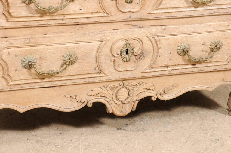 An 18th Century French Louis XV Provincial Four-Drawer Marble Top Wood Chest For Sale 5