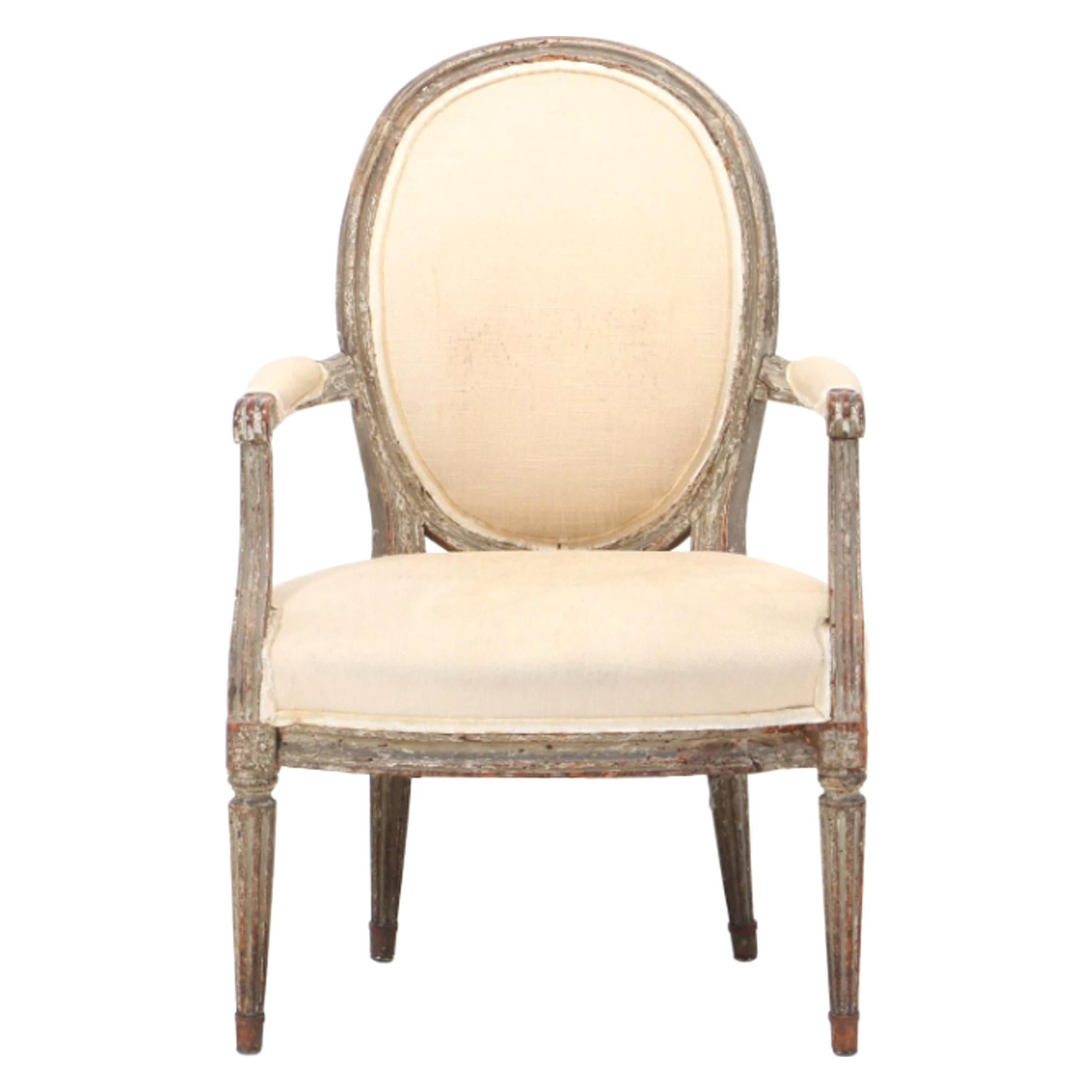 18th Century French Louis XVI Fauteuil