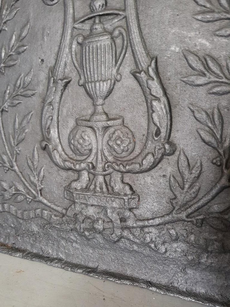 Cast 18th Century French Louis XVI Fireback For Sale