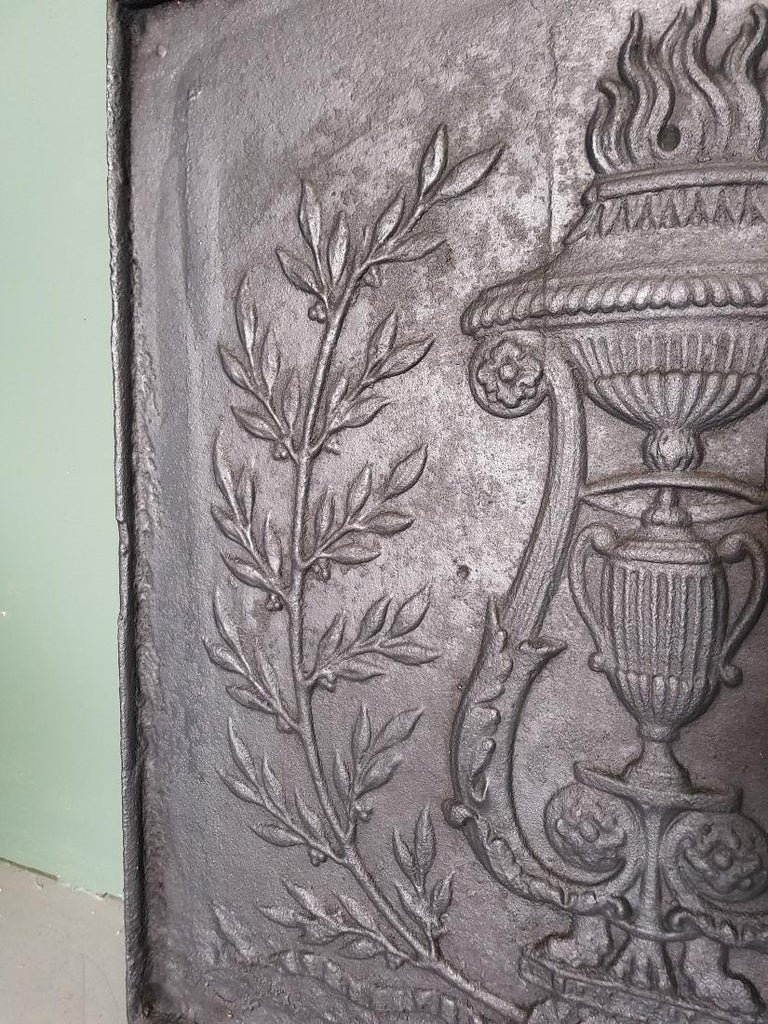 18th Century French Louis XVI Fireback In Good Condition For Sale In Raalte, NL