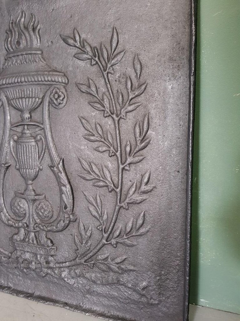 Iron 18th Century French Louis XVI Fireback For Sale