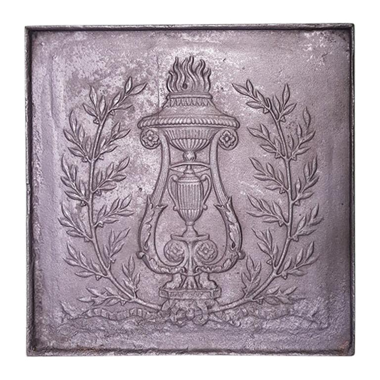 18th Century French Louis XVI Fireback For Sale