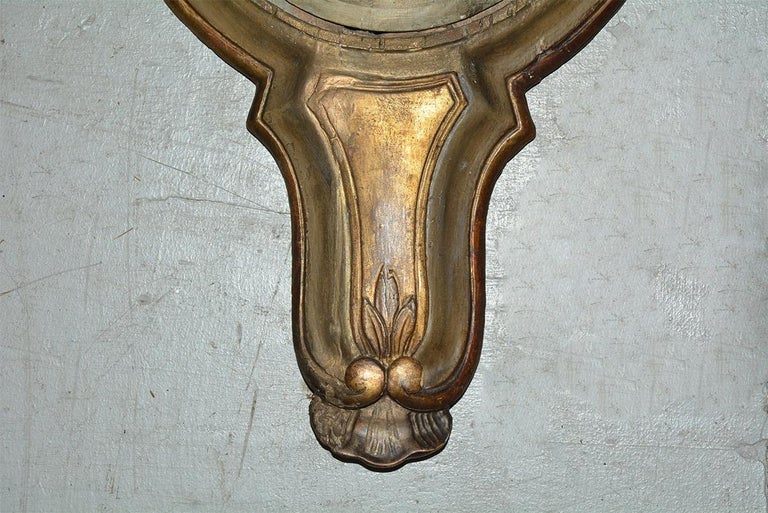 18th Century French Louis XVI Giltwood Barometer For Sale 2
