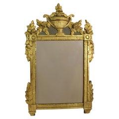 18th Century French Louis XVI Giltwood Mirror