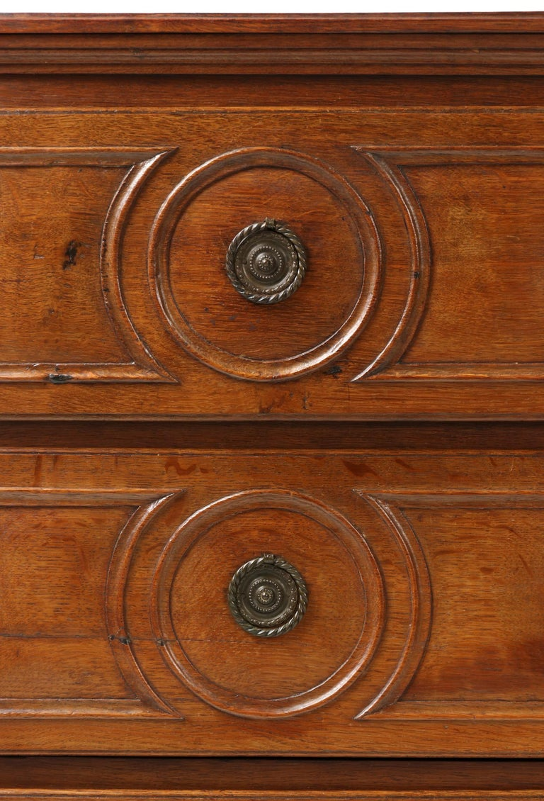 18th Century French Louis XVI Oak Commode Chest of Drawers For Sale 6