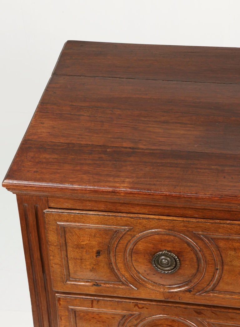 18th Century French Louis XVI Oak Commode Chest of Drawers For Sale 7