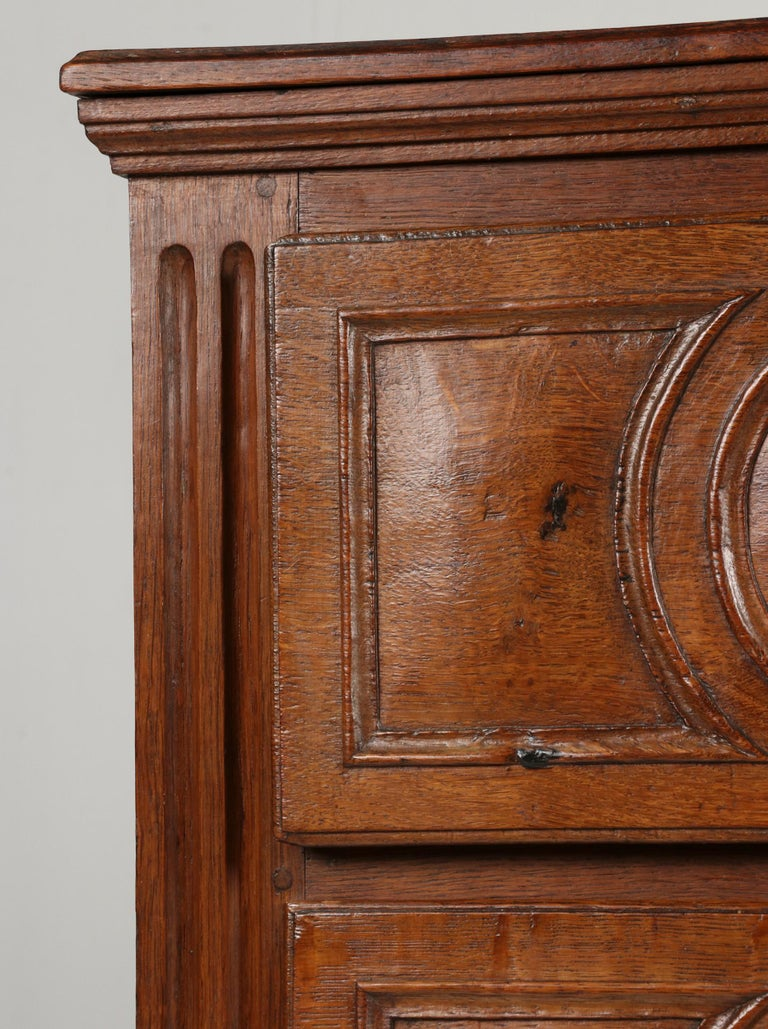 18th Century French Louis XVI Oak Commode Chest of Drawers For Sale 11