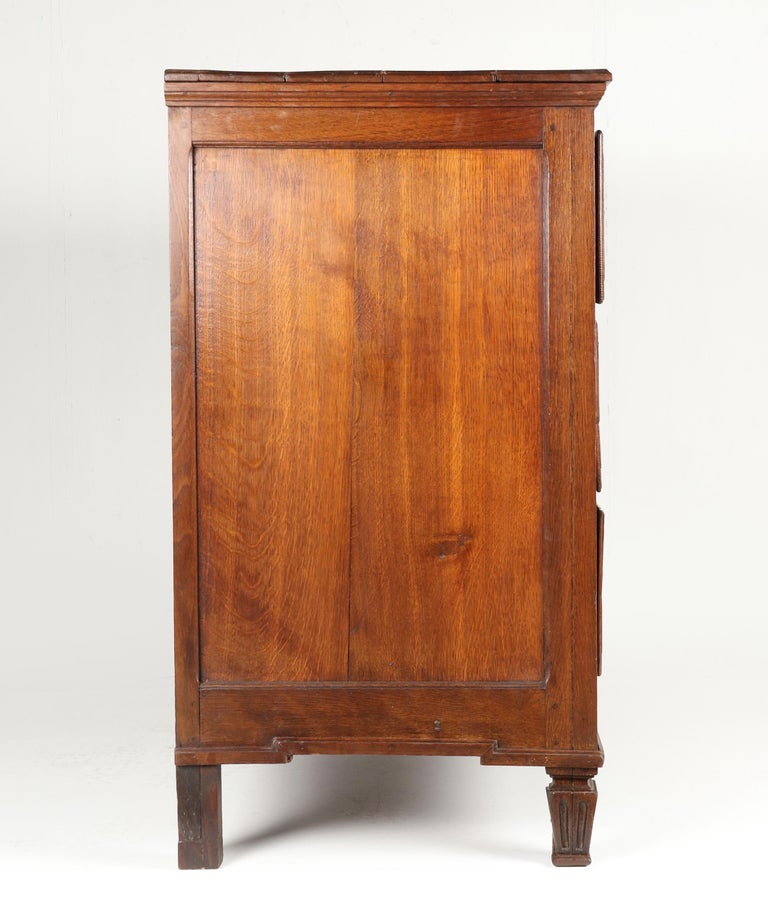 18th Century French Louis XVI Oak Commode Chest of Drawers For Sale 5