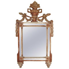 18th Century French Louis XVI Period Mirror with Original Mirror Plate