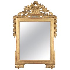18th Century French Louis XVI Style Giltwood Mirror