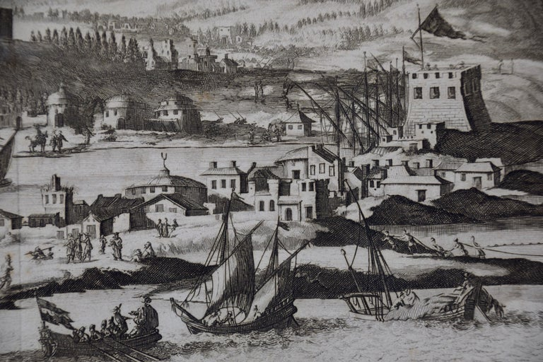 18th Century French Map and City View of Joppe/Jaffa 'Tel Aviv' by Sanson For Sale 2