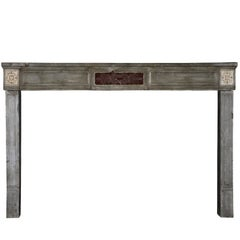 18th Century French Marble Stone Antique Fireplace Mantel