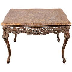 18th Century, French, Marble-Top Table