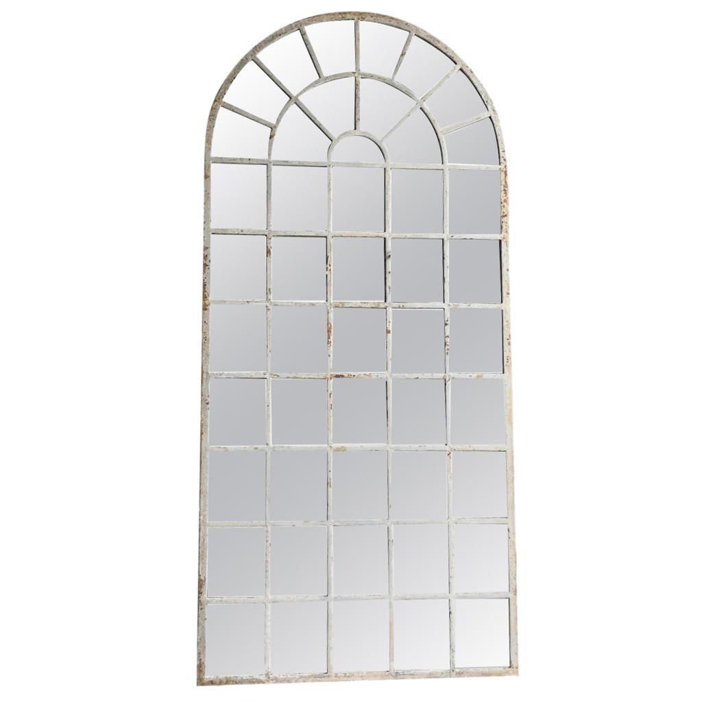 18th Century French Metal, Cast Iron Orangerie Wall Mirror