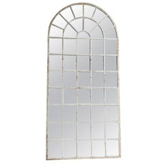 18th Century French Metal, Cast Iron Orangerie Wall Mirror