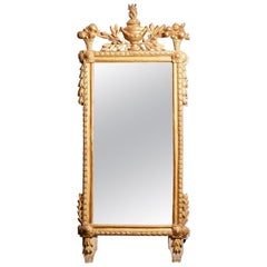 18th Century French Neoclassical Giltwood Mirror