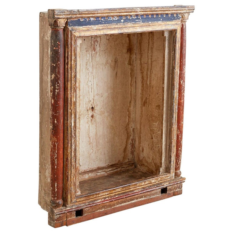 18th Century French Niche or Shrine Display Cabinet For Sale