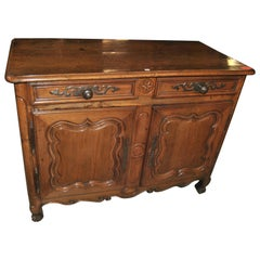 18th Century French Oak and Fruitwood Server