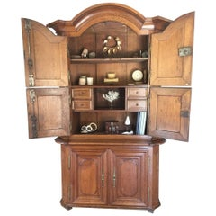 18th Century French Oak Buffet Cupboard Sideboard