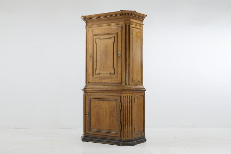 French 18th century architectural oak cabinet.