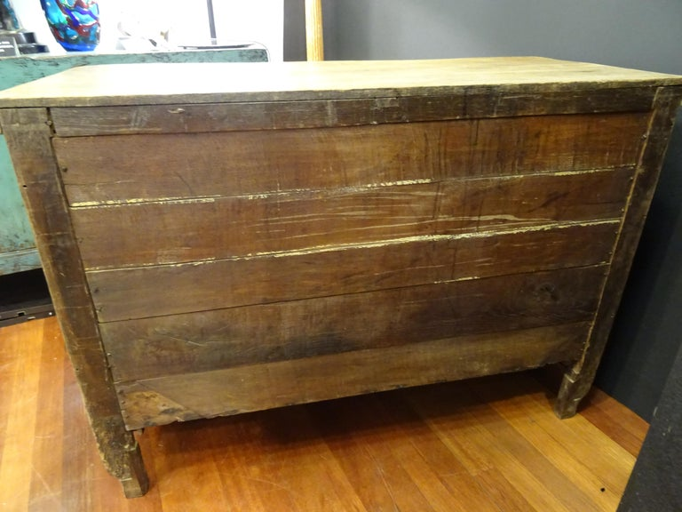 18th FrenchProvencal  Chest of Drawers Oak Carved Wood and Brass , 1790 For Sale 8