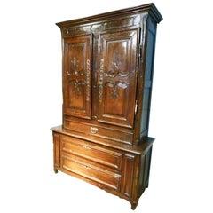 18th Century French Oak Sacristy Cabinet