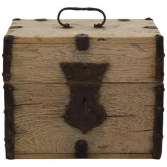 18th Century French Oak Strong Box
