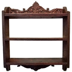 18th Century French Oak Wall Shelf