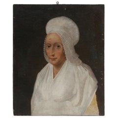 18th Century French Oil Paint Portrait of a Lady