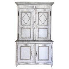 18th Century French Painted Buffet a Deux Corps