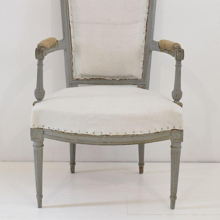 18th Century French Pair of Directoire Chairs For Sale 7