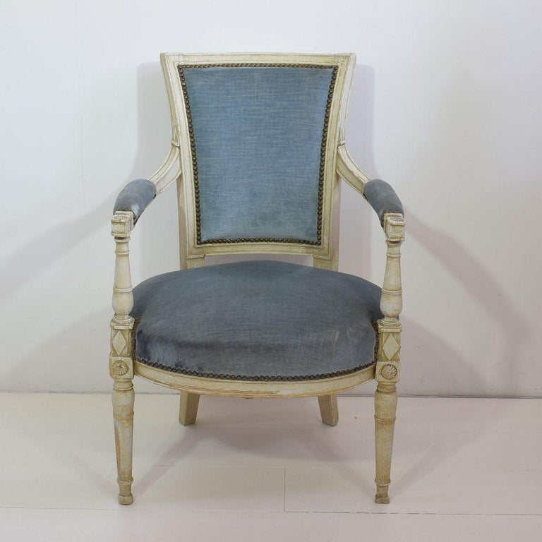 18th Century French Pair of Directoire Chairs 5