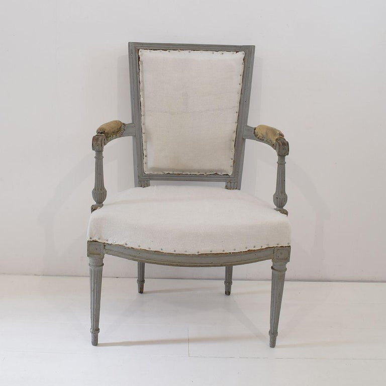 18th Century French Pair of Directoire Chairs For Sale 9