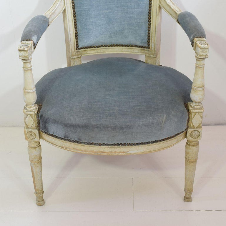 18th Century French Pair of Directoire Chairs 7
