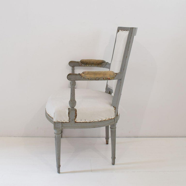 18th Century French Pair of Directoire Chairs For Sale 14