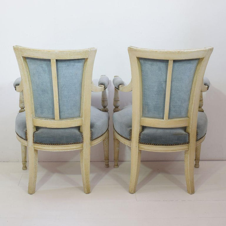 18th Century and Earlier 18th Century French Pair of Directoire Chairs