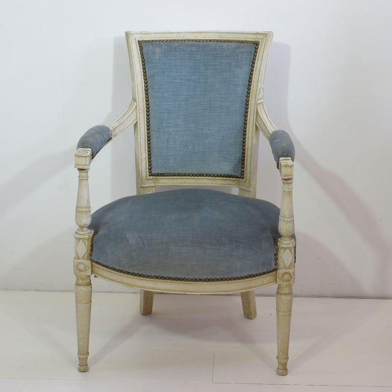 18th Century French Pair of Directoire Chairs 1