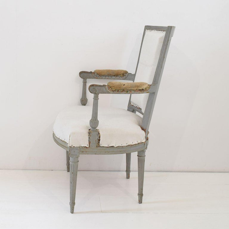 18th Century French Pair of Directoire Chairs For Sale 5