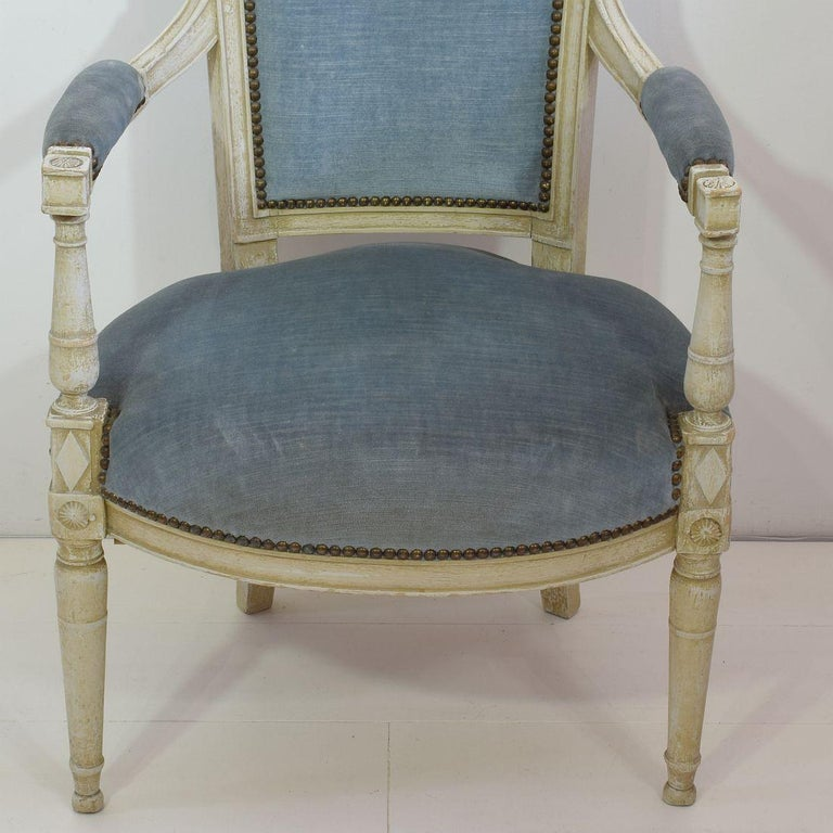 18th Century French Pair of Directoire Chairs 3