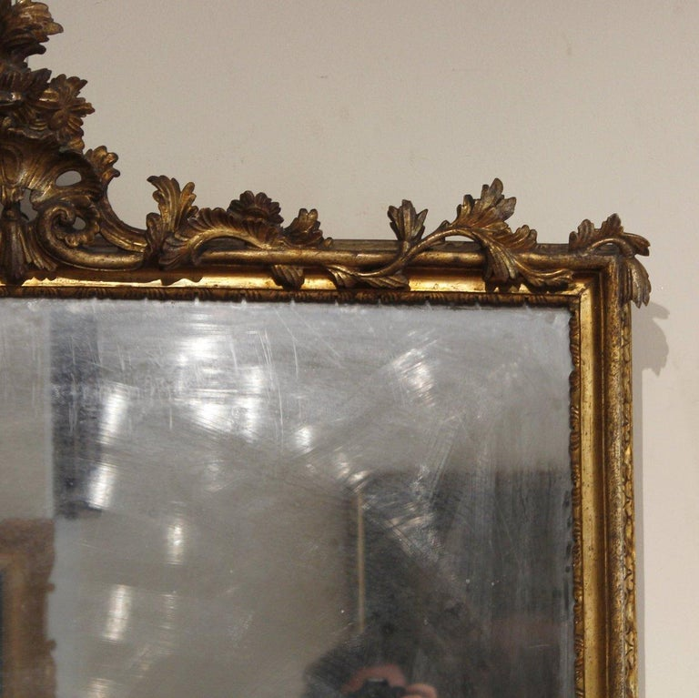18th Century French Pair of Louis XV Mirrors In Good Condition For Sale In Roma, IT