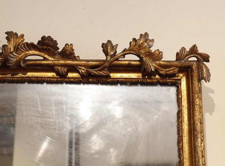 Wood 18th Century French Pair of Louis XV Mirrors For Sale