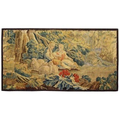18th Century French Pastoral Landscape Tapestry