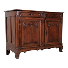 18th Century French Period Louis XV Walnut Buffet from Lyon